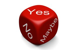 Yes-no-maybe-dice