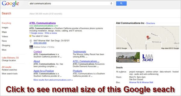 Atel-communications-google-search